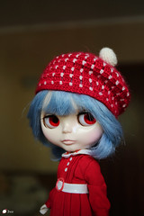 for Etsy (Echo (EchoForDolls)) Tags: doll blythe beret crochet red ayanamirei echofordolls etsy