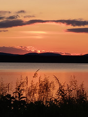 sunset (helena.e) Tags: helenae husbil rv motorhome water vatten solnedgång sunset älsa laponia rastplats jokkmokk norrland orange himmel sky naturewatcher moln cloud semester holiday vacation