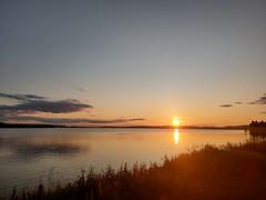 sunset (helena.e) Tags: helenae husbil rv motorhome water vatten solnedgång sunset älsa laponia rastplats jokkmokk norrland sol sun orange