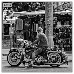 Off Season Santa Sighting?? (GAPHIKER) Tags: sturgis southdakota motorcycle santaclaus santa chrome tatoos sneakers indian