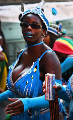 DSC_7052b Notting Hill Caribbean Carnival London Mas Players Parade Participant Blue Exotic Showgirl Costume with Sun Glasses August 26 2019 Stunning Big Beautiful Woman BBW (photographer695) Tags: notting hill caribbean carnival london mas players parade participant august 26 2019 beautiful stunning girls blue exotic showgirl costume with sun glasses big woman bbw