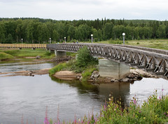 bridge (helena.e) Tags: helenae semester vacation holiday älsa husbil rv motorhome storforsen water vatten waterfall vattenfall bro bridge