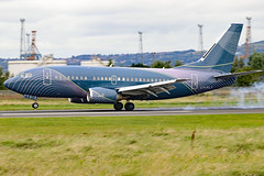 LY-FLT (GH@BHD) Tags: lyflt boeing 737 735 b737 b735 737500 klasjet klj bhd egac belfastcityairport corporate executive bizjet aircraft aviation
