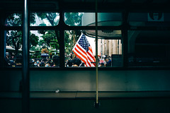 America (Ding Yuin Shan) Tags: leicam9p voigtländer21f4colorskoparm 反送中 voigtländer 21 f4 colorskoparm 2019 hong kong antiextradition bill protest america flag tram
