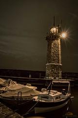 Leuchtturm im Hafen von Desenzano del Garda