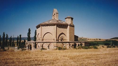 Chapelle romane Santa Maria d'Eunate (XIIe), Murazabal, comarque de Puente la Reina, communauté forale de Navarre, Espagne