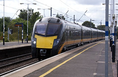 beds - grand central 180101 passing biggleswade 07-9-19 JL (johnmightycat1) Tags: railway ecml gnr bedfordshire lner