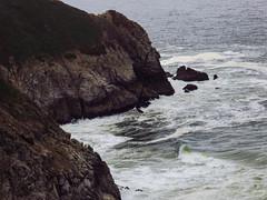 Rhythm of Land and Sea (Colormaniac too - Many thanks for your visits!) Tags: ocean cliffs pacificocean california seascape landscape nature devilsslide landandsea californiacoastline digitalpainting topazstudio netartll hss