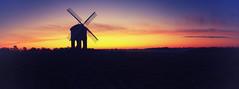 Chesterton Windmill Sunrise (seantindale) Tags: chesterton windmill uk sunrise silhouette olympus omdem1markii panoramic panorama autumn morning