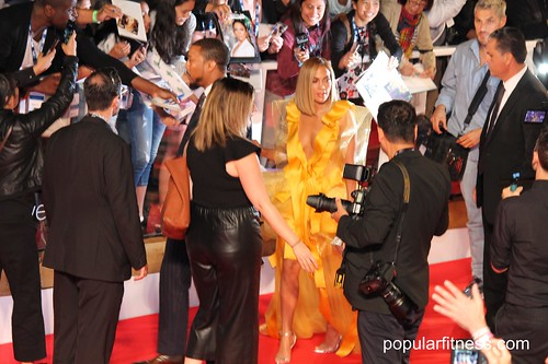 Jennifer Lopez - Long Golden Yellow Dress