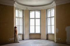 room with three windows