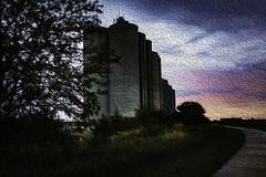 A Farmer's Castle in the Air (Carol (vanhookc)) Tags: silo farmers painterly sliderssunday hss photoshop oilpainting digitalprocessing