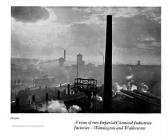 ICI - a short account of the activities of the company, 1929 - Winnington and Wallerscote Works, Cheshire (mikeyashworth) Tags: ici imperialchemicalindustries 1929 hoppé eohoppé photograph northwich cheshire brunnermond salt saltindustry alkali chemicalindustry chemicalplant chimney industrialarchitecture industriallandscape winnington wallerscote