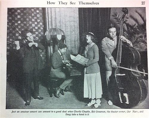 Charlie Chaplin, Sid Grauman, Mary, Doug, Picture-Play February 1921