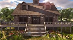 Trompe Loeil - Joralie Cottage (Ƙɨᴛᴛƴ Ɓᴀ́ʟσʀ) Tags: house garden flower sky sl trompeloeil