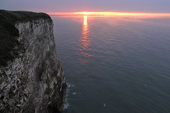 Bempton Sunset (mike_j's photos) Tags: bempton cliff rspb sunset sea