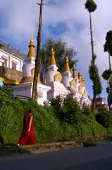 Monk walking on railway track-orginal (Dare to share) Tags: india westbengal sonada darjeeling asia tibetan himalaya buddhism monk temple jonasthoren