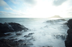 Worm's Head, Gower, Wales, UK (Michael Wichert) Tags: sony nex7 wales gower wormshead uk gb blue blau sunset sonnenuntergang sea waves seascape