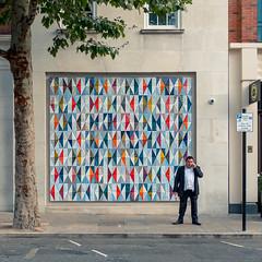 On Call (Sean Batten) Tags: london england unitedkingdom shoreditch eastlondon streetphotography street person candid pattern fuji fujifilm x100f city urban road pavement tree