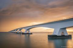 Zeelandbrug in the Netherlands (© Jenco van Zalk) Tags: longexposure clouds water netherlands dawn sunrise bridge zeeland zeelandbrug zealandbridge