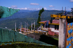 Tibetan flags (Dare to share) Tags: india westbengal sonada darjeeling asia tibetan himalaya buddhism temple view jonasthoren