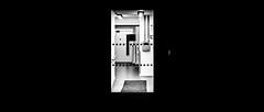 Door To..? (Sean Batten) Tags: london england unitedkingdom blackandwhite bw light shadow nikon df 50mm door keypad city urban