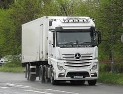 GL13 YFT At Welshpool (Joshhowells27) Tags: lorry truck mercedes mercedesbenz actros mercedesactros mercedesbenzactros unmarked gl13yft refrigerated