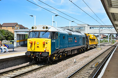 50008 - Peterborough - 23/07/19. (TRphotography04) Tags: 6z50 1010 from leicester lip whitemoor yard ldc gbrf hanson hall rail services br blue english electric type 4 50008 thunderer leads