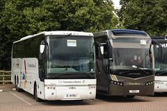 Shaw, Carnforth (LA) - 4 FXS (YJ10 JYH) & 18 CU (PO15 KTP) (peco59) Tags: 4fxs 18cu yj10jyh po15ktp volvo b12bt b12b b12 b13rt b13r b13 vanhool acron jonckheere jsv shawcarnforth thetravellerschoice harrisonmorecambe battersbysilvergrey coach coaches psv pcv photo photos
