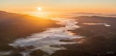 Smoke on the Waters (http://www.richardfoxphotography.com) Tags: lochvenachar lochachray lochkatrine benvenue ben ledi loch misy misty fog foggy temperatureinversion inversion cloudinversion panorama sunrise mountain scotland thetrossachs scottishhighlands scotand