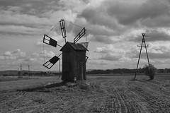 Kalembina Młyn Wiatrowy IMG_3266 bw (david.neville2776) Tags: kalembina podkarpacie wiatrak młyn wiatrowy windmill cables fields clouds sky bw