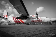Fokker 50 – Air Antwerp – OO-VLS – Antwerp Airport (ANR EBAW) – 2019 09 07 – Parked – 01 – Copyright © 2019 Ivan Coninx (Ivan Coninx Photography) Tags: ivanconinx ivanconinxphotography photography aviationphotography antwerpairport deurne anr ebaw fokker fokker50 airantwerp oovls aviation spotting bevrijdingsdagen