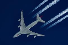 Cargolux Boeing 747-467(F) LX-GCL (Thames Air) Tags: cargolux boeing 747467f lxgcl contrails contrailspotting