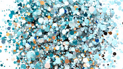 Abstract Screensaver With Flying Colorful Circles (UliaArts) Tags: abstract texture colorful blue pattern white decoration red crowd people small design food cartoon wallpaper many green stone beads 3d christmas shape color