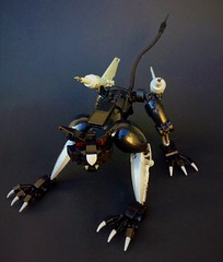 Ravage (Pohaturon) Tags: transformers g1 ravage lego legomoc comic mtmte idw cat build art feline animal robot tf cassette retro 1984 bionicle moc transformer decepticon afol
