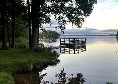 Late September Afternoon (halleluja2014) Tags: summer lake water evening sweden september dalarna falun sjö kväll varpan bridge brygga