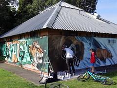 Mural in Cheltenham (for Cheltenham Paint Festival 2019) by JXC Designs (chibeba) Tags: cheltenham town gloucestershire england english september 2019 autumn urban europe art streetart mural murals paint paintfest festival cheltenhampaintfestival cheltpaintfest colour