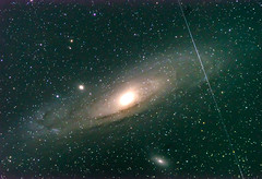 Object Passing in front of M31 Andromeda Galaxy (Phil Ostroff) Tags: andromeda m31 onject meteor satellite astronomy astrophotography