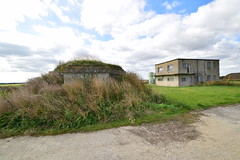Type 27 Pillbox (Battle HQ) and Control Tower (IntrepidExplorer82) Tags: airfield raf royal air force windrush abandoned gloucestershire control tower raid shelter barracks camp runway concrete