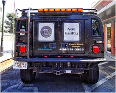 The Hummer | Peach State Lawyer | Law Office on Roswell Street | Marietta, GA (steveartist) Tags: hummervehicles blackvehicle signs emblems vehiclelights emergencylights peachstatelawyer building lawoffice brickwall tag sonydschx80 snapseed photostevefrenkel mariettaga