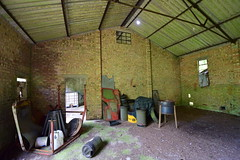 MT Shed / Garages (IntrepidExplorer82) Tags: airfield raf royal air force windrush abandoned gloucestershire control tower raid shelter barracks camp runway concrete