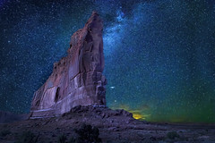 Tower of Babel-Arches National Park (McKendrickPhotography.com) Tags: archesnationalpark moab utah nightscape nightsky night stars