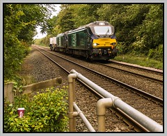 6D43 - 6th Sept. (peterdouglas1) Tags: valleyflasks directrailservices class68 68001 68018 glanymorelias llanfairfechan northwalescoastrailway