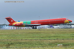 DAT Danish Air Transport OY-RUE McDonnell Douglas MD83 arriving at London Stansted Airport 6 Sept 2019 (bananamanuk79) Tags: planewatch pictures aviation airplane airport london flying flight runway air travel transport pilot avgeek airways takeoff departure flyer vehicle outdoor airliner jet jetliner flyers travelling jumbo logo livery painted airplanes aicraft photos airline airliners airlines stansted worldwide spotter planespotting oyrue maddog md83 mcdonnelldouglas rareaircraft dat danishairtransport