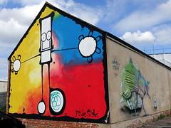Mural in Cheltenham (for Cheltenham Paint Festival 2019) (chibeba) Tags: cheltenham town gloucestershire england english september 2019 autumn urban europe art streetart mural murals paint paintfest festival cheltenhampaintfestival cheltpaintfest colour
