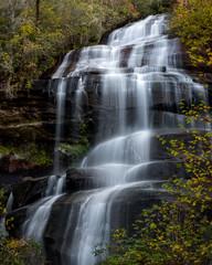 Waterfall in Pisgah National Forest (Eileen Tercha) Tags: northcarolina waterfall longexposure smoothwater pisgahnationalforest pisgah hike