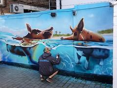 Mural in the 2 Pigs for Cheltenham Paint Festival 2019 (chibeba) Tags: cheltenham town gloucestershire england english september 2019 autumn urban europe art streetart mural murals paint paintfest festival cheltenhampaintfestival cheltpaintfest colour