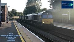 DIRECT RAIL SERVICES 66427 TESCO LINER WENTLOOG TO DAVENTRY CHELTENHAM SPA 08092019 (MATT WILLIS VIDEO PRODUCTIONS) Tags: direct rail services 66427 tesco liner wentloog to daventry cheltenham spa 08092019