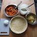 Zubereitung von Kürbis-Zwiebel-Käse-Crostata