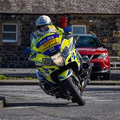 Essex Police Motorbike (Brian Wotherspoon) Tags: tour britain 2019 bike cycle race scotland stage 1 ovo energy glasgow kirkcubbright dumfriesgalloway essex police motor bmw r1200 rt motorbike